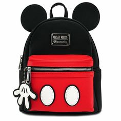 Loungefly x Mickey Mouse Poses All-Over Print Convertible Duffel Bag