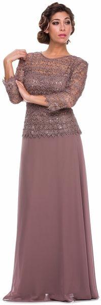 short sleeve mother of bride groom long formal dress lace top plus