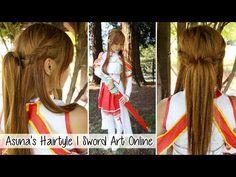 Asuna's Hair Tutorial l Sword Art Online Cosplay