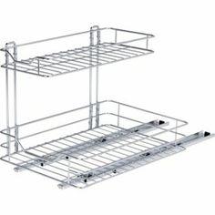 2 Shelf Sliding Kitchen Storage - Chrome. from Homebase.co.uk