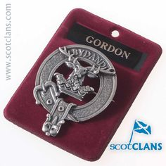 Gordon Clan Crest Cap Badge. Free worldwide shipping available.. Free worldwide shipping available