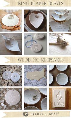 Handmade Ring Bearer Bowls and Wedding Keepsakes from Paloma's Nest!