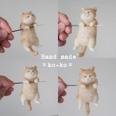Wool Felting, Needle Felting, Felt Dragon, Needle Felted Animals, Forest Animals, Knitting Designs, Kittens Cutest, Cross Stitch Embroidery, Pet Birds
