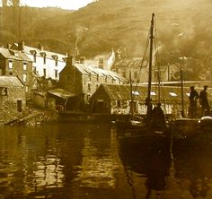 Photos of Devon and Cornwall in the West Country,Photos on Canvas,digital art Old Photos, Vintage Photos, Polperro Cornwall, Devon And Cornwall, Seaside Village, St Ives, Photo Canvas, British Isles, Old Town
