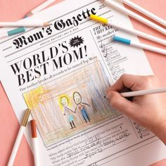 Gift for mom: Mothe'rs Day newspaper project. #DIY #crafts for #kids #MothersDay