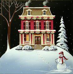 """Christmas at Grandma and Grandpas"" Painting by Catherine Holman"