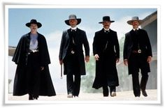 "Four handsome cowboys for the price of one, does it get any better than that!! Val Kilmer, Sam Elliott, Kurt Russell and Bill Paxton in ""Tombstone""."