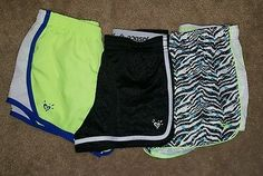 Girls Justice shorts lot size 10 black blue green everyday