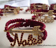 FSU/Noles Macrame Game Day Bracelet/Florida State by JVHANTRES, $20.00