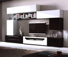 blanco y negro Lcd Wall Design, False Ceiling Design, Modern Tv Units, Modern Tv Wall, Tv Shelving, Front Room Design, Muebles Living, Tv Wall Decor, Tv Unit Design