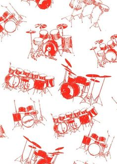 Drum wallpaper, I need to decorate my room in this!!!