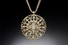 Spring Dreamin'  Created by Christopher Duquet Fine Jewelry Design; Chicago;   Materials: White Gold, Yellow Gold, Diamonds
