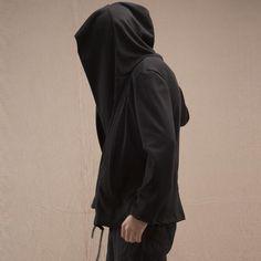 Mens Retro Irregular Crossbody Draped Loose Knitting Hoodies at Banggood