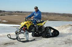 Track and ski quad Snow Toys, Snow Machine, Quad Bike, Jet Ski, Boat Plans, Toys For Boys, Big Boys, Motocross, Offroad