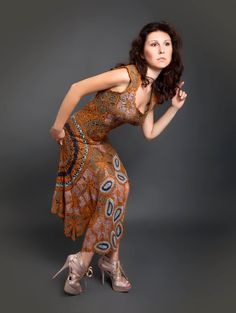 Sienna brown exclusive long crochet dress от LecrochetArt на Etsy,