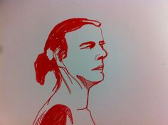 life drawing 2016 in red pen