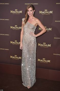 Rita Ora hosts Cannes Magnum party in sweeping semi-sheer violet gown Ice Cream Brands, Millie Mackintosh, Strapless Dress Formal, Formal Dresses, Rita Ora, Cannes Film Festival, Oras, Red Carpet, Party