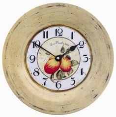 Tin Plate Horloge Français mur, Plum Design - 26cm