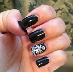 Halloween- spider web Halloween Spider, Nails, Finger Nails, Ongles, Nail, Manicures