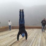 A handstand in Nevados park - 4200 meters above sea level. Colombia