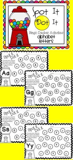 DIY Engaging, fun, hands-on alphabet activities! Just print and add bingo daubers. It's that easy!