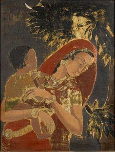 Mother by Asit Kumar Haldar (India, 1890-1964)