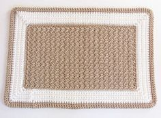 Crochet Rectangle Rug...do it in yellow and white for the kitchen!