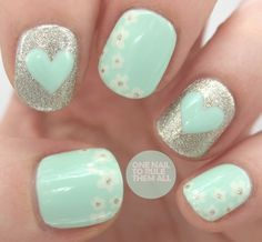 I love this except I might just have the two nails with the heart and then the others just solid.