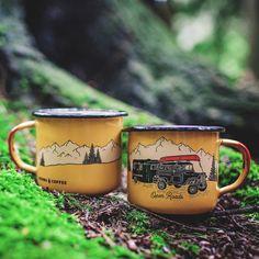 Woods Coffee Enamel Mug (Adventure Series): Open Roads