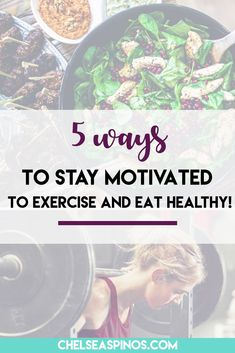 Stay motivated to exercise and eat healthy with these 5 tips! Following your workout program and diet plan has never been so easy :)