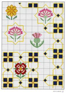 Gallery.ru / Фото #38 - 8 - OlgaHS Tudor rose cross stitch point de croix chart pattern