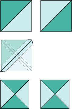 Easy Quarter Square Triangle Units