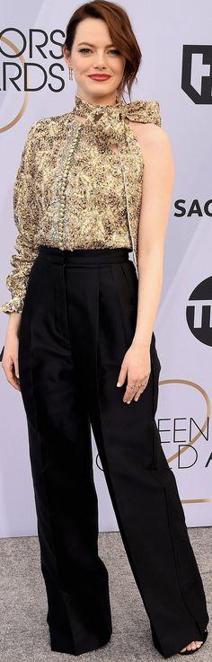 Actress Emma Stone, Superbad, Diane Keaton, Sag Awards, American Actress, Red Carpet, Louis Vuitton, Hollywood, Celebs