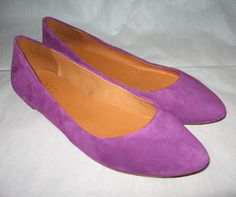 Madewell New in Box Suede sidewalk skimmers shoes Color:Brilliatnt thistle  #Madewell #Flats