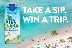 I just entered to take a sip and win a trip from @vitacoco ENTER HERE:  @vitacoco https://wn.nr/t5dssd