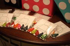 Lego crayon favors #lego #crayons #partyfavors