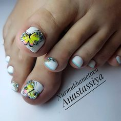 Over 50 Incredible Toe Nail Designs for Your Perfect Feet Toe Nail Flower Designs, Girls Nail Designs, Toenail Art Designs, Cute Nail Art Designs, Pedicure Designs, Pedicure Nail Art, Pretty Pedicures, Pretty Toe Nails, Cute Toe Nails