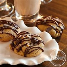 #Chocolate Drizzled Peanut #Cookies from Pillsbury® Baking