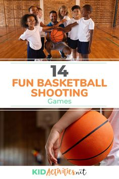 A collection of 14 fun basketball shooting games for kids. Girls and boys will love this group of ideas for playing different basketball indoor or outdoor games. Shooting Games For Kids, Relay Games For Kids, Sports Games For Kids, Outdoor Games For Kids, Activities For Kids, Indoor Games, Fun Games, Basketball Shooting Games, Basketball Drills For Kids
