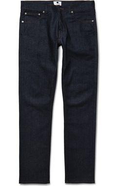 NN.07 slim-fit raw denim jeans. #menswear #denim