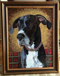 Chloe | by sundogmosaics WIP photos of her amazing pet mosaics for inspiration