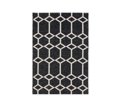 Brita Ingrid door mat in Black and White recycled plastic. Can be used indoors…