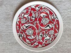Çini tabak, ceramic plate