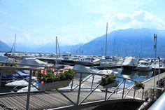 Yachthafen in Locarno  #schweiz #locarno #hafen #yachthafen #yacht #boote
