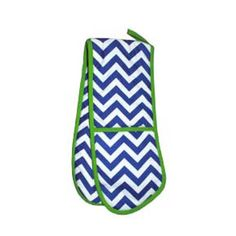 a8042c53c3eb Monogrammed Main Street Collection Navy Chevron or Lime Green Woven Oven  Mit with Vine Interlocking Monogram