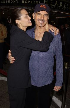 Angelina and Billy Bob: Angelina Jolie and Billy Bob Thornton met in 1999 while filming Pushing Tin and were married in 2000. They divorced in 2002 with Angelina taking custody of their newly adopted son, Maddox.