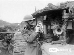 """thisdayinwwi: """"Feb 7 1918 A staff officer of the Division plays with a kitten outside his dug-out at Essigny - IWM (Q """" World War One, First World, Ww1 Photos, Photographs, The Great, Armistice Day, Flanders Field, Cute Animal Photos, Remembrance Day"""