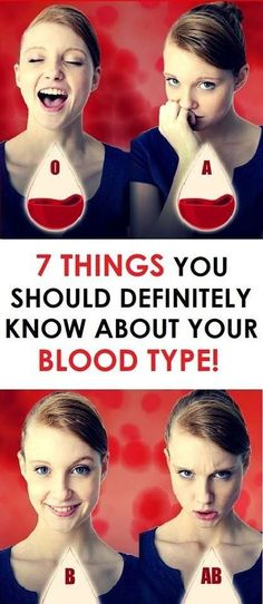 Human blood is grouped into 4 different blood types: A, B, AB, and O. Our blood type group is determined from birth. Experts explain that each blood group has different characteristics. Shakira, Blood Type Diet, Blood Types, Weight Gain, Weight Loss, Blood Groups, Natural Medicine, Holistic Medicine, Herbal Medicine