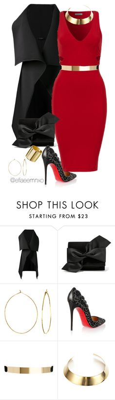 """Be my Valentine"" by efiaeemnxo ❤ liked on Polyvore featuring Sid Neigum, Victoria Beckham, Phyllis + Rosie, Christian Louboutin, ASOS, DANNIJO, Topshop, women's clothing, women and female"