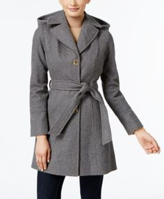 MICHAEL Michael Kors Wool-Blend Hooded Coat, Only at Macy's
